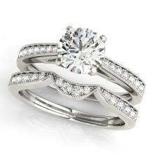 1.19 CTW Certified VS/SI Diamond Solitaire 2Pc Wedding Set 14K Gold - REF-209Y3X - 31727