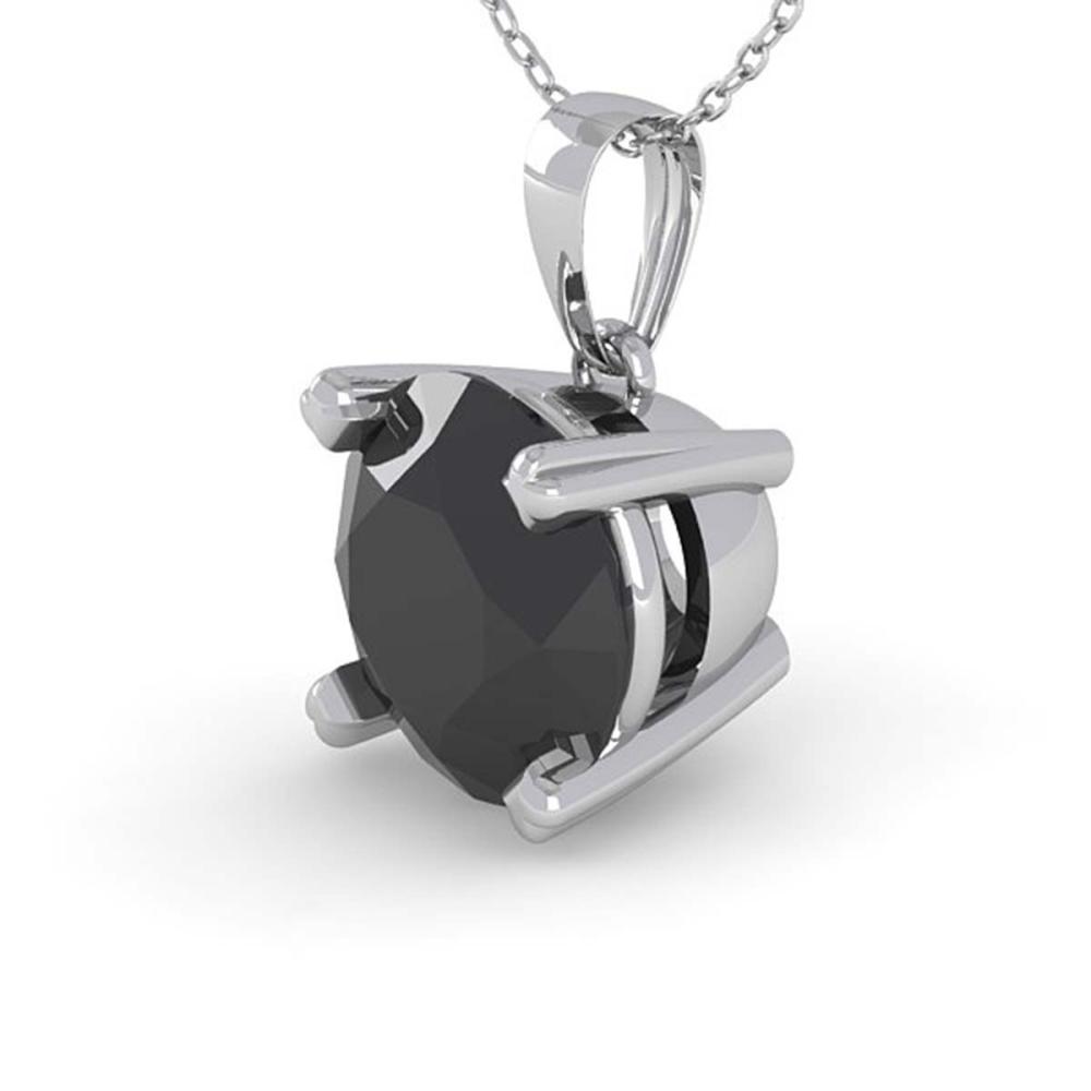 1 ctw Black Diamond Necklace 18K White Gold - REF-43N2A - SKU:32355