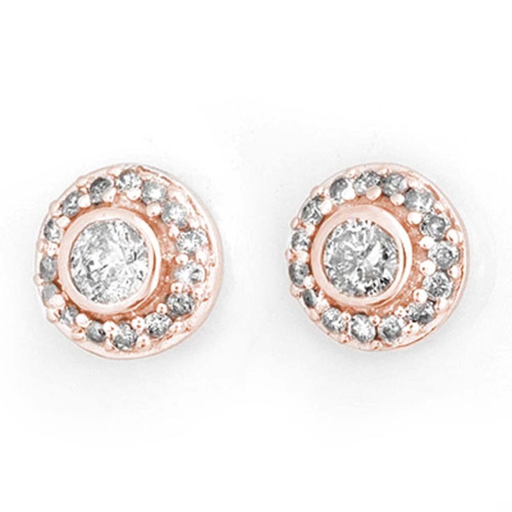 0.90 ctw VS/SI Diamond Stud Earrings 14K Rose Gold - REF-91Y3X - SKU:11463