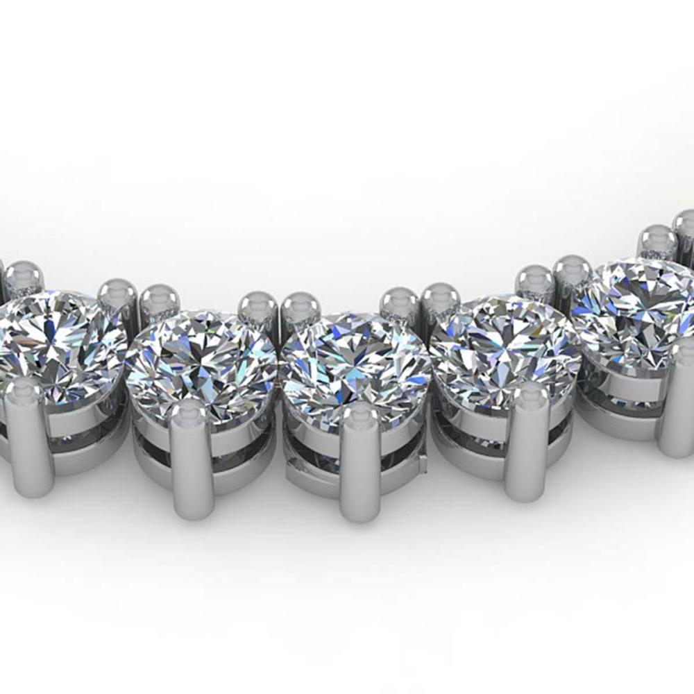 54 ctw 3 Prong SI Diamond Necklace 14K White Gold - REF-14848V3Y - SKU:35646