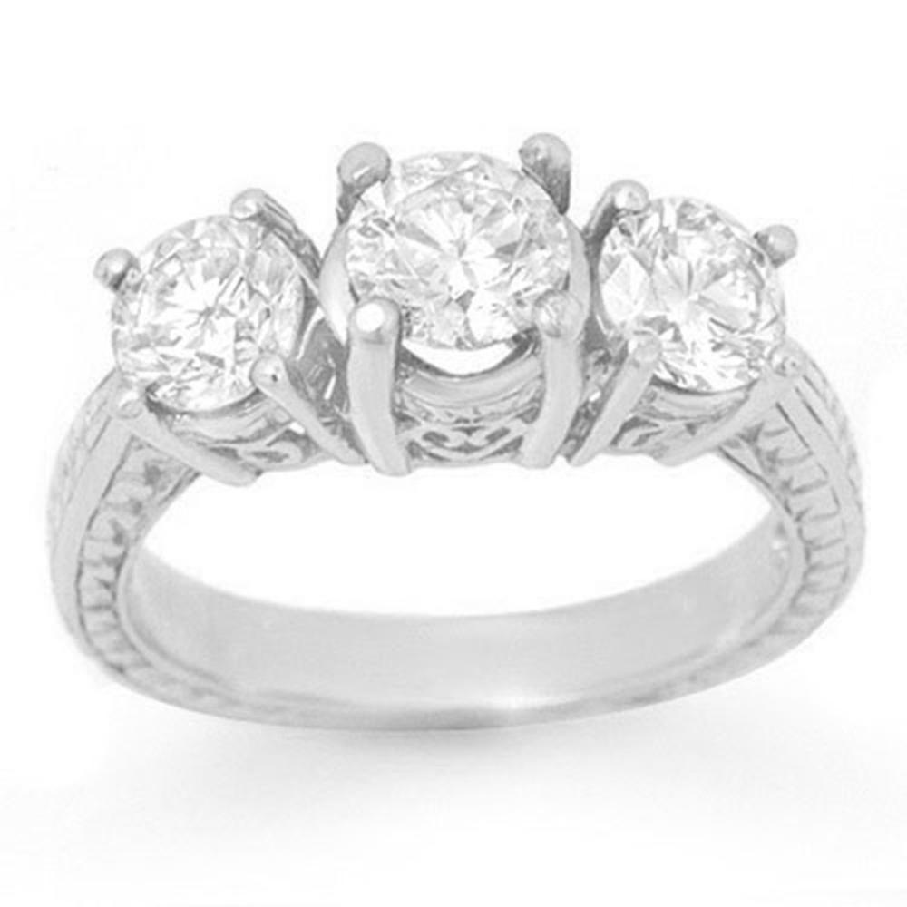 2.0 ctw VS/SI Diamond 3 Stone Ring 18K White Gold - REF-333F3N - SKU:13396