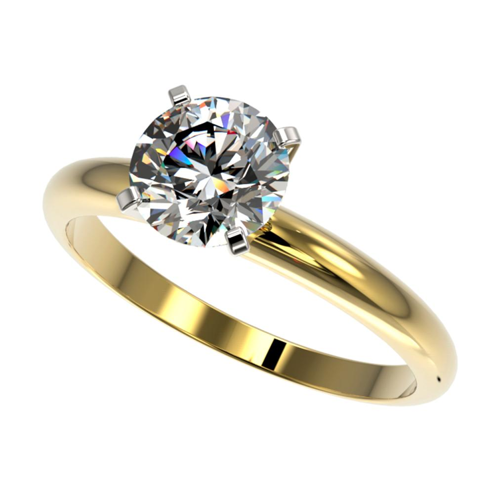 1.50 ctw H-SI/I Diamond Ring 10K Yellow Gold - REF-330H2M - SKU:32924
