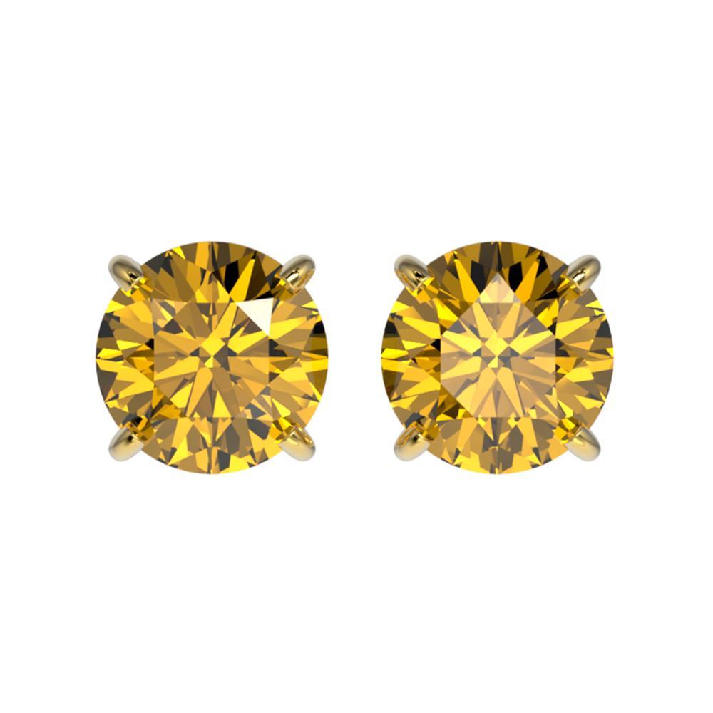 1.54 ctw Intense Yellow Diamond Stud Earrings 10K Yellow Gold - REF-192K2W - SKU:36621