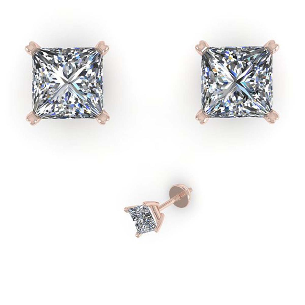 1.03 ctw VS/SI Princess Cut Diamond Earrings 18K White Gold - REF-148F5N - SKU:32280