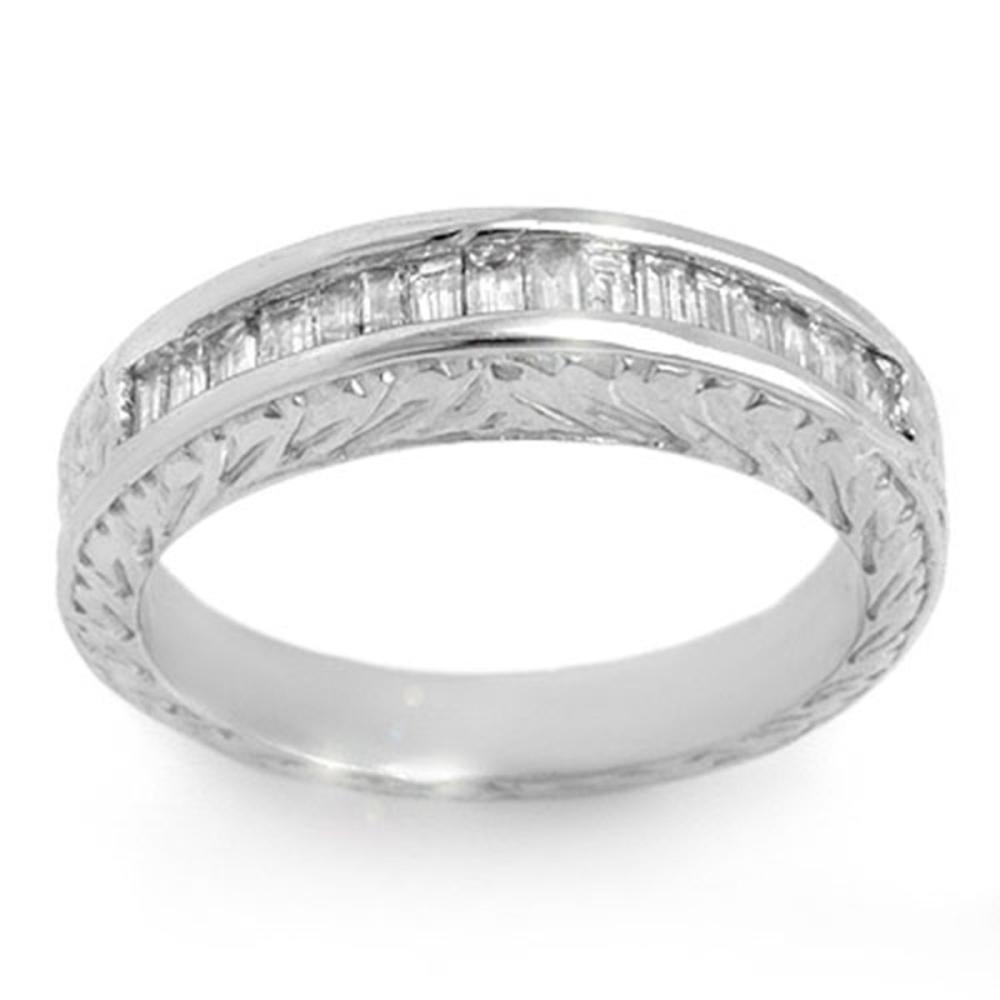1.33 ctw Baguette VS/SI Diamond Ring 14K White Gold - REF-136V4Y - SKU:11564