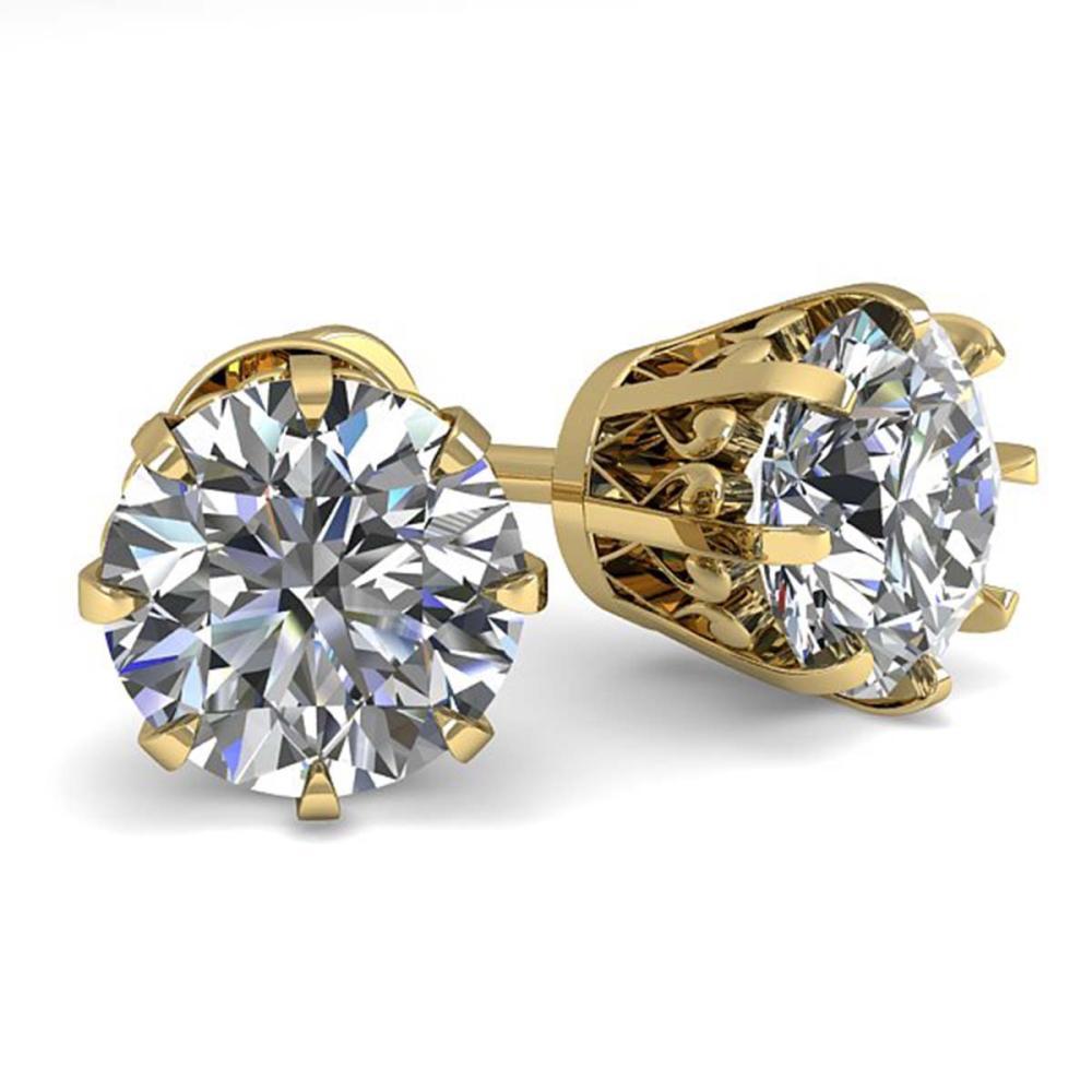 2.03 ctw VS/SI Diamond Stud Solitaire Earrings 18K Yellow Gold - REF-570H2M - SKU:35689