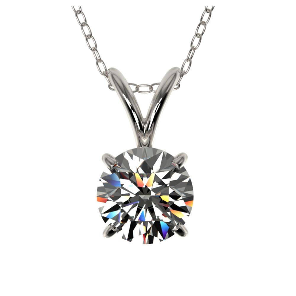 0.77 ctw H-SI/I Diamond Solitaire Necklace 10K White Gold - REF-88W5H - SKU:36739