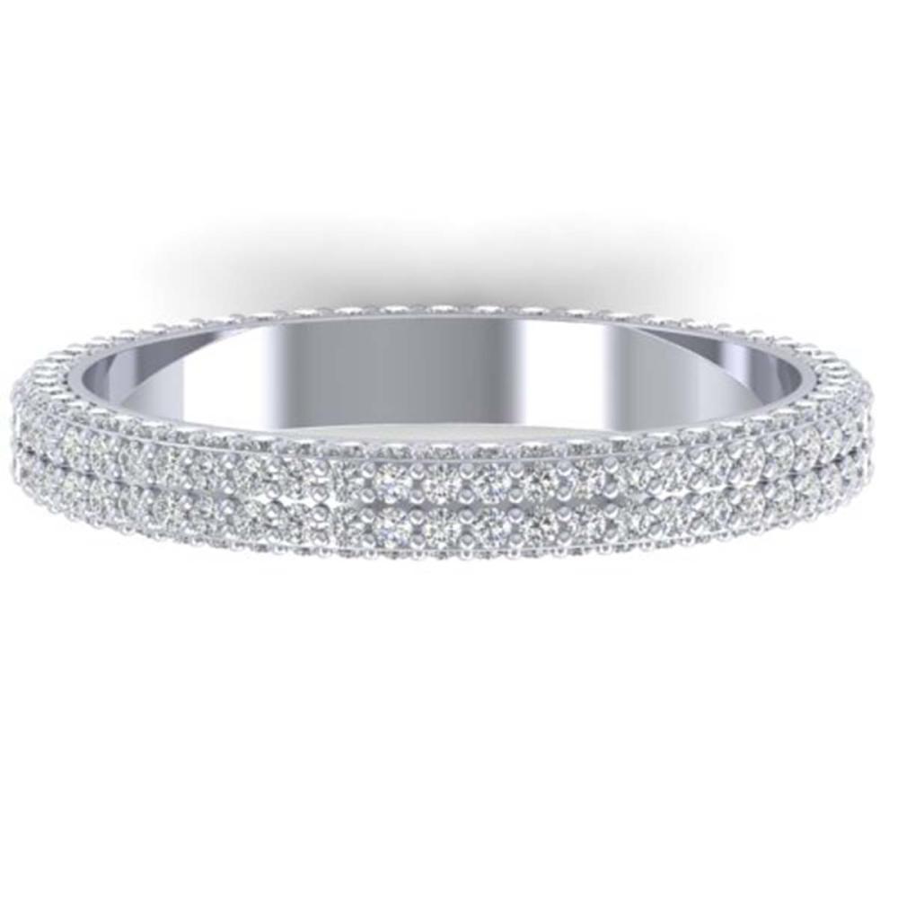 1.75 ctw VS/SI Diamond Eternity Ring 14K White Gold - REF-130X9R - SKU:30267