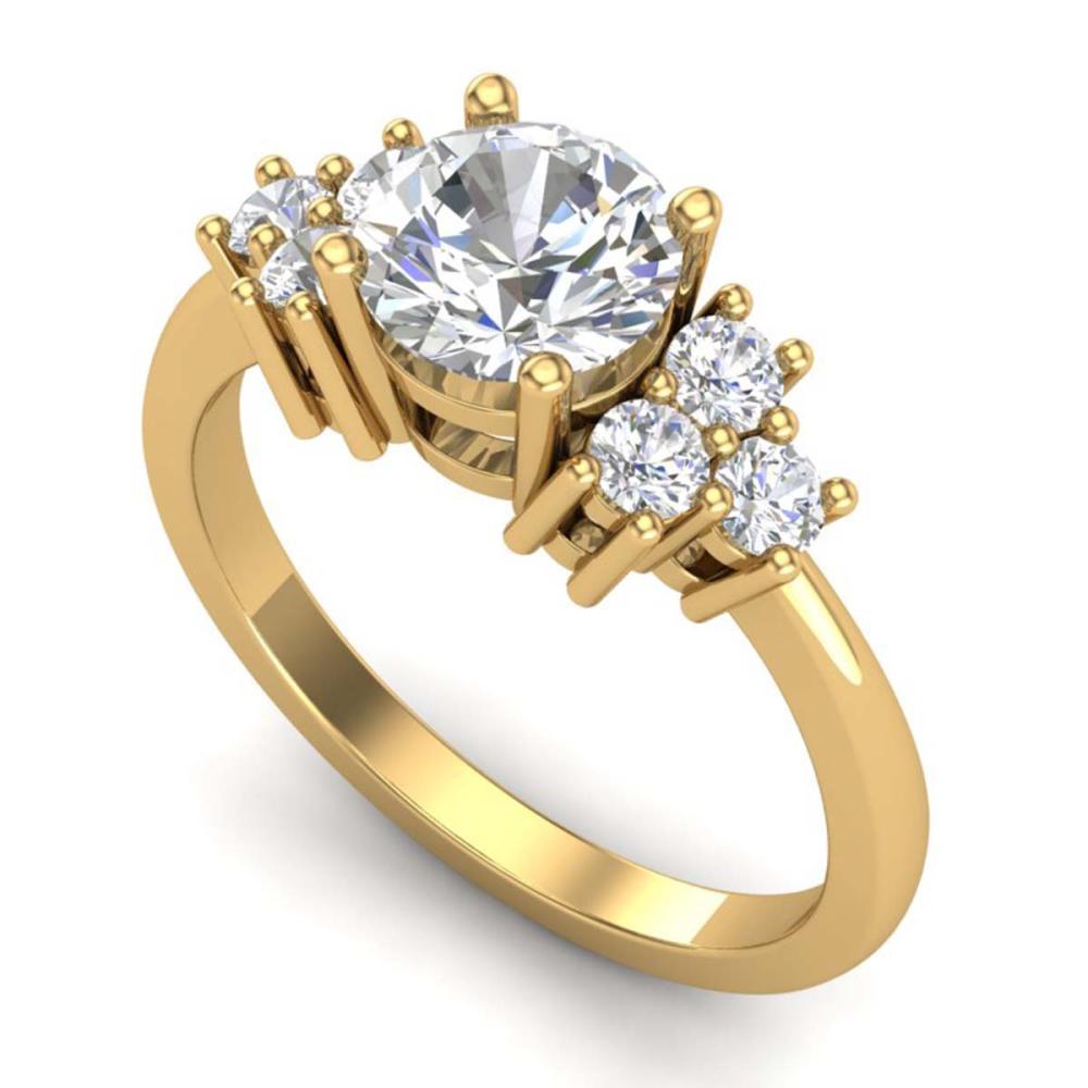 1.50 ctw VS/SI Diamond Solitaire Ring 18K Yellow Gold - REF-409K3W - SKU:36940