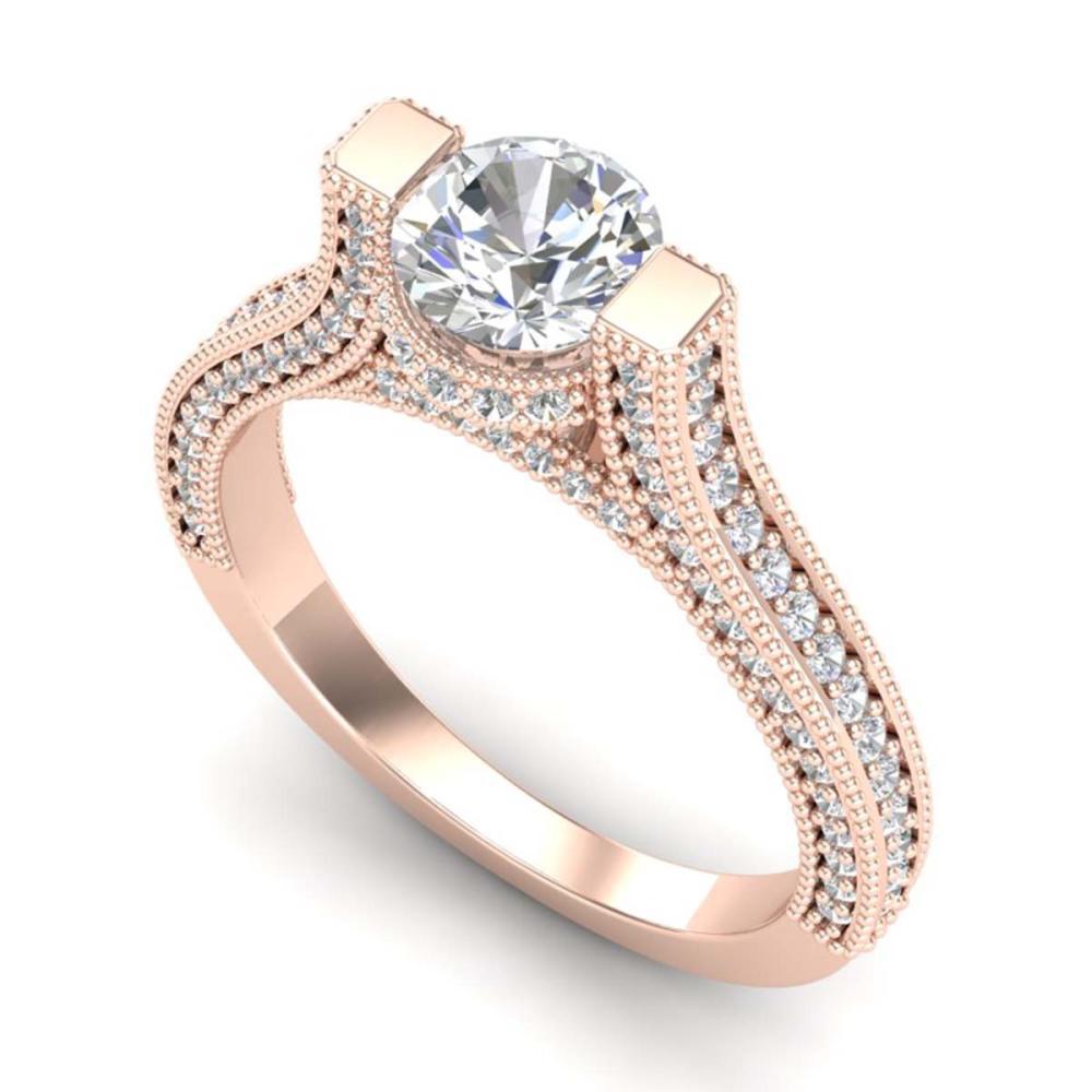 2 ctw VS/SI Diamond Ring 18K Rose Gold - REF-290A9V - SKU:36948