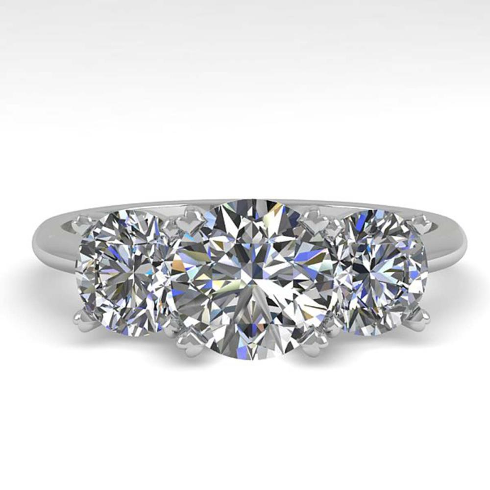 2 ctw VS/SI Diamond Past Present Future Ring 14K White Gold - REF-390W7H - SKU:38491