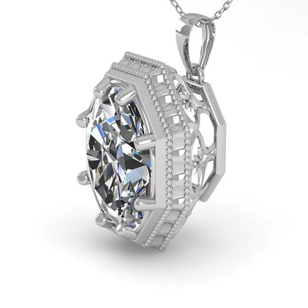 1 ctw VS/SI Oval Cut Diamond Necklace 18K White Gold - REF-287R7K - SKU:36000