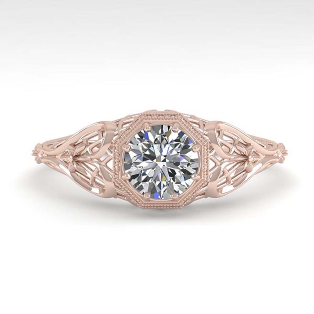 0.50 ctw VS/SI Diamond Ring 18K Rose Gold - REF-104W7H - SKU:36014