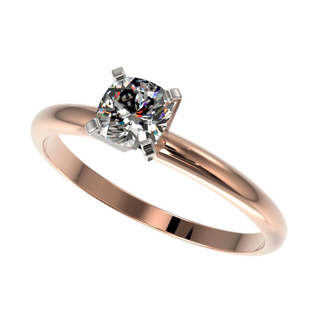 0.50 ctw VS/SI Cushion Cut Diamond Ring 10K Rose Gold - REF-73W5H - SKU:32872