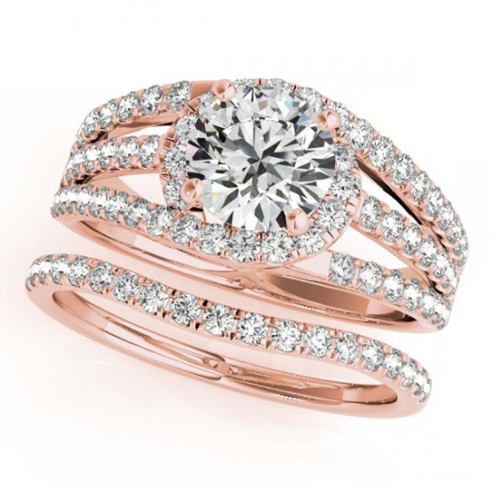1.15 ctw VS/SI Diamond 2pc Wedding Set 14K Rose Gold - REF-114A5V - SKU:32007