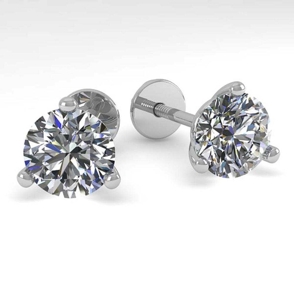 2.01 ctw VS/SI Diamond Stud Earrings 14K White Gold - REF-528M3F - SKU:30574
