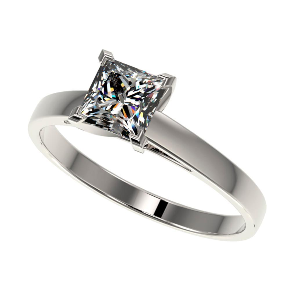 1 ctw VS/SI Princess Diamond Ring 10K White Gold - REF-297F2N - SKU:32994