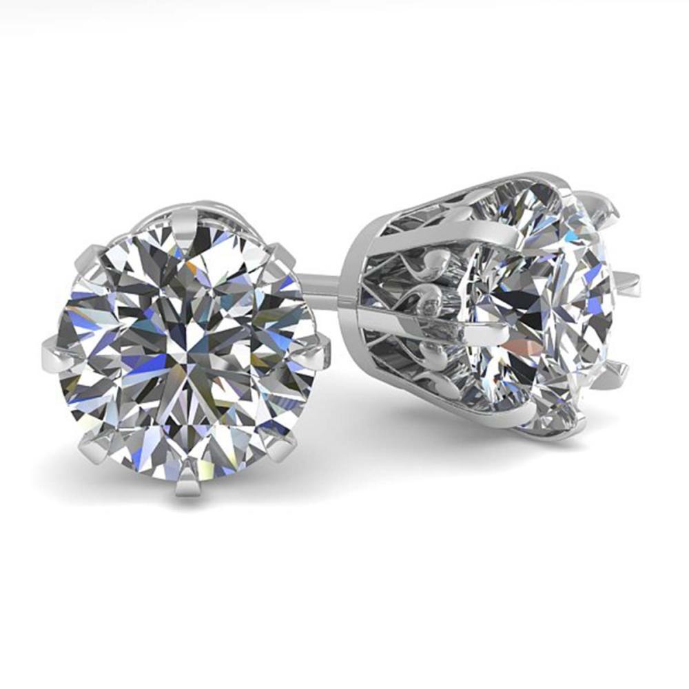 2.50 ctw VS/SI Diamond Stud Solitaire Earrings 18K White Gold - REF-745M5F - SKU:35694