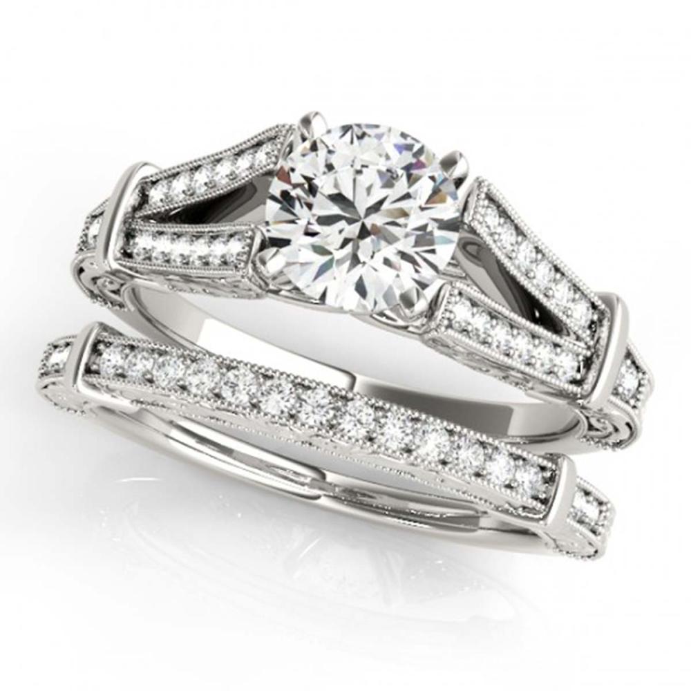 1.16 ctw VS/SI Diamond 2pc Wedding Set 14K White Gold - REF-166H6M - SKU:31463