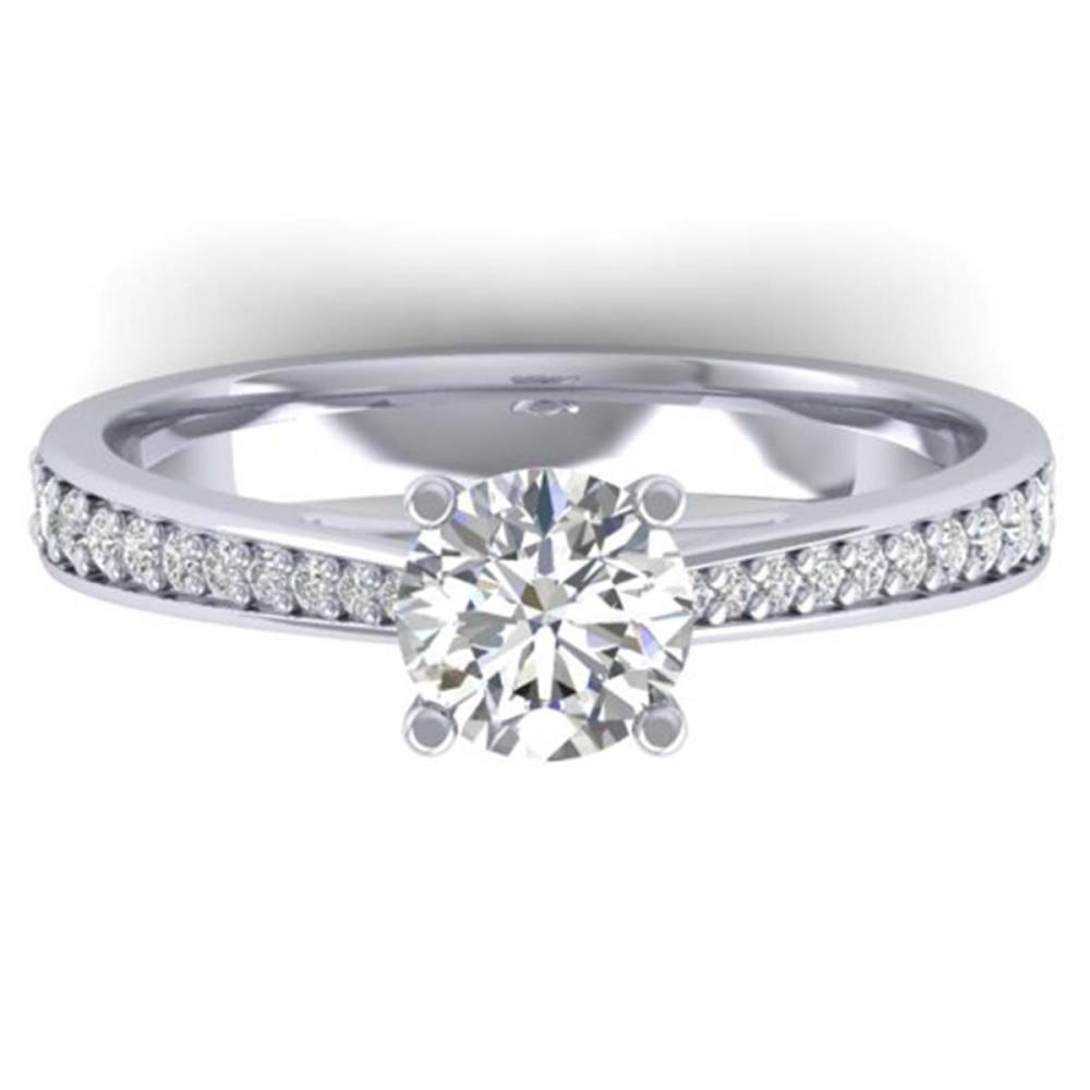 1.01 ctw VS/SI Diamond Art Deco Ring 14K White Gold - REF-176F5N - SKU:30381