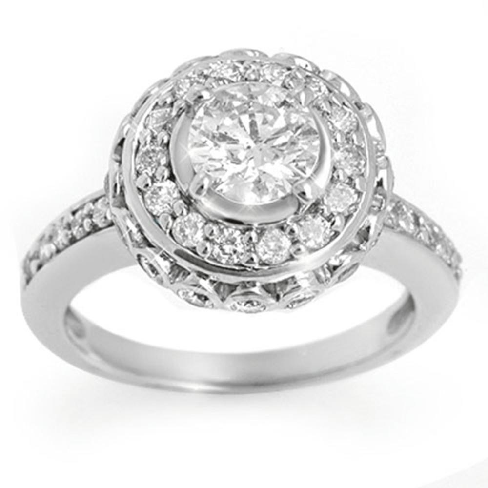 2.04 ctw VS/SI Diamond Ring 18K White Gold - REF-322A8V - SKU:11398