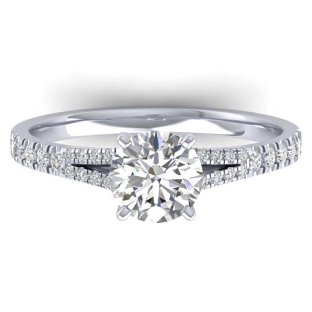 1.36 ctw VS/SI Diamond Art Deco Ring 14K White Gold - REF-309A2V - SKU:30375