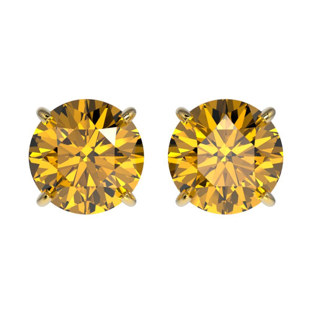 2.11 ctw Intense Yellow Diamond Stud Earrings 10K Yellow Gold - REF-360H2M - SKU:36673