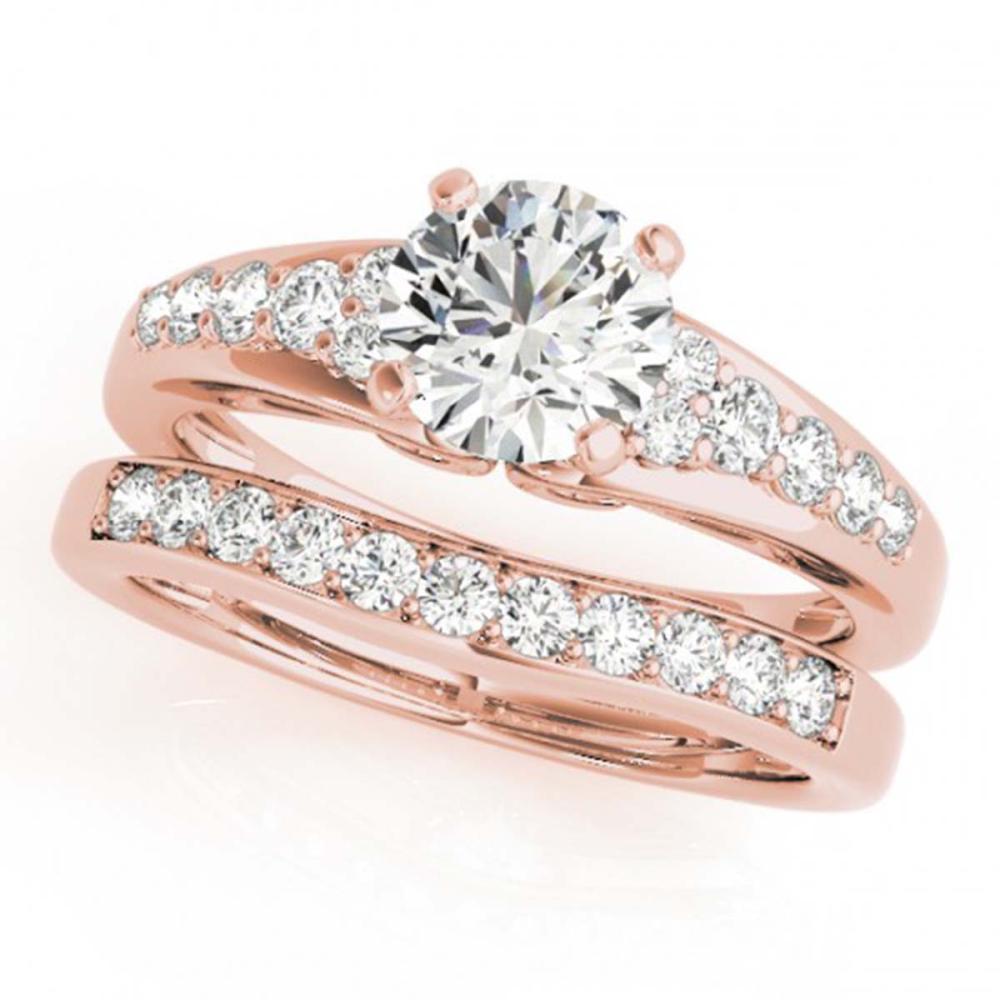 1.75 ctw VS/SI Diamond 2pc Wedding Set 14K Rose Gold - REF-321M8F - SKU:31722