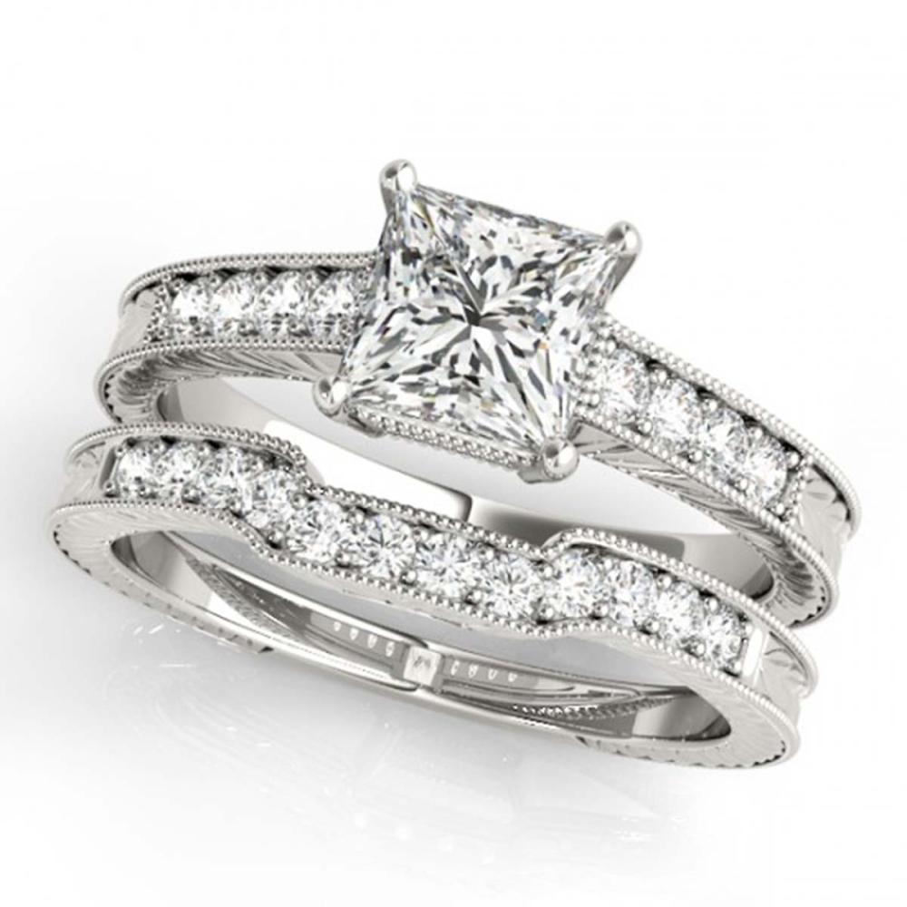 1.18 ctw VS/SI Princess Diamond 2pc Set 14K White Gold - REF-180F5N - SKU:31418