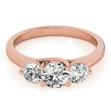 2 CTW Certified VS/SI Diamond 3 stone Bridal Solitaire  Ring 18K Rose Gold - REF#-499K5W-28015