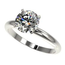2 CTW Certified G-SI Quality Diamond Solitaire Engagment Ring Gold - REF#-564N9A-32932