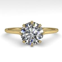 1.50 CTW CERTIFIED VS/SI DIAMOND ENGAGMENT RING 18K SIZE 7 Gold - REF#-523T5K-35758