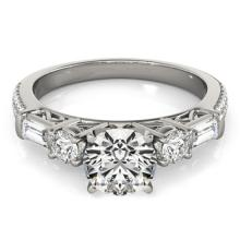2.5 CTW Certified VS/SI Diamond Pave Bridal Solitaire  Ring 18K White Gold - REF#-650R2H-28110