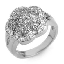 1.50 ctw Yellow Sapphire & Diamond Ring 14K White Gold - REF#-81F8V-10406