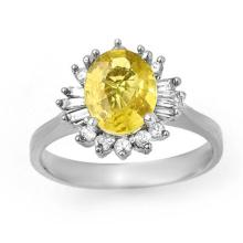 2.25 ctw Blue Sapphire & Diamond Ring 14K White Gold - REF#-53V8Y-14273