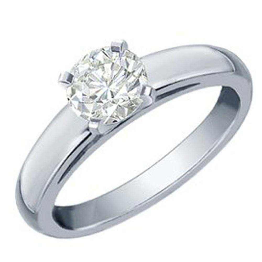 0.50 ctw VS/SI Diamond Solitaire Ring 14K White Gold - REF-123W3H - SKU:11982