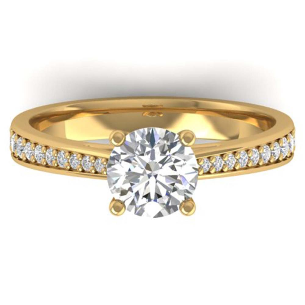 1.26 ctw VS/SI Diamond Art Deco Ring 14K Yellow Gold - REF-308N4A - SKU:30386