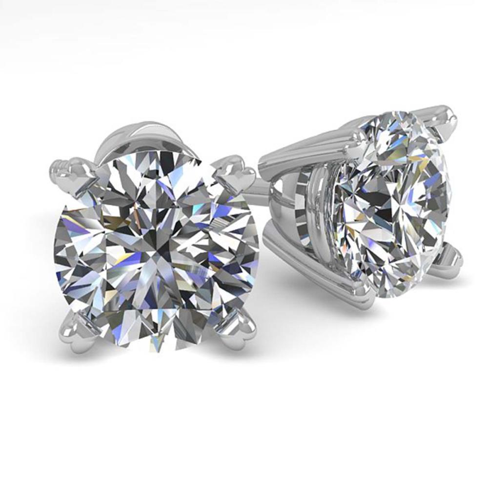 1.53 ctw VS/SI Diamond Stud Earrings 18K White Gold - REF-249Y2X - SKU:32298