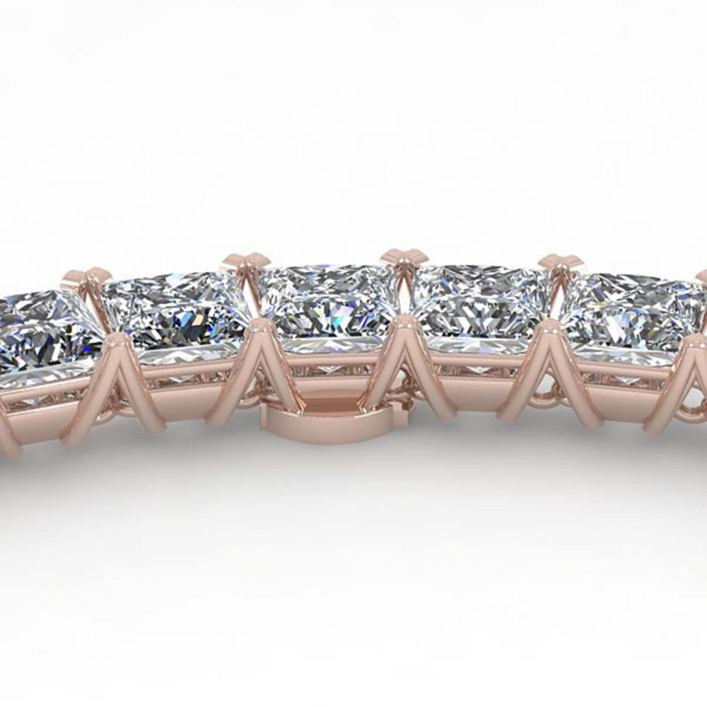 50 ctw Princess SI Diamond Necklace 14K White Gold - REF-7980Y2X - SKU:32184