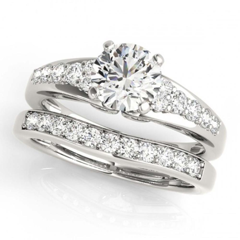 1.75 ctw VS/SI Diamond 2pc Wedding Set 14K White Gold - REF-321Y8X - SKU:31721