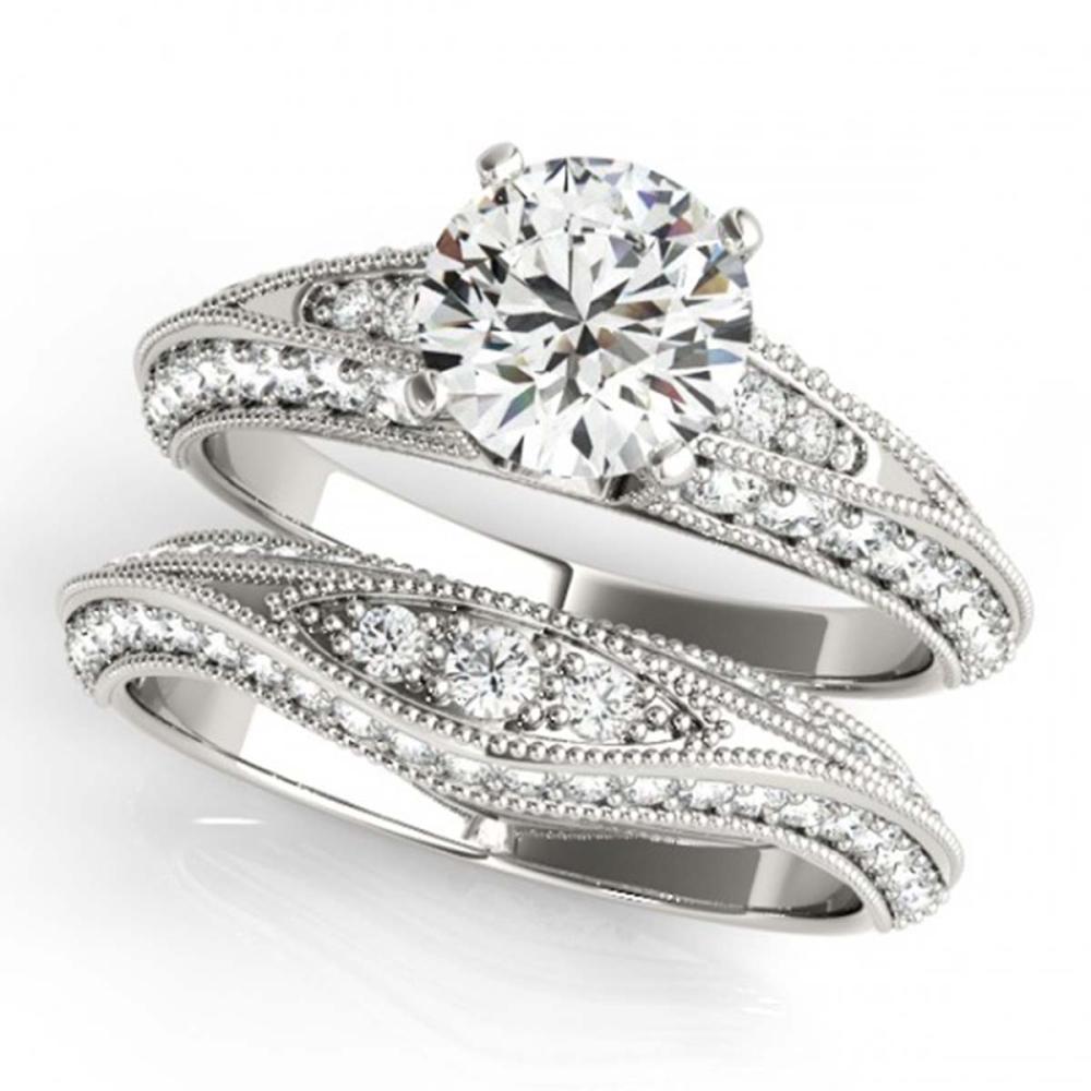 1.51 ctw VS/SI Diamond 2pc Wedding Set 14K White Gold - REF-133N6A - SKU:31442