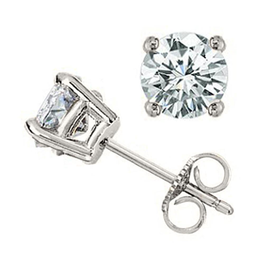 1.0 ctw VS/SI Diamond Stud Earrings 14K White Gold - REF-147F2N - SKU:12799