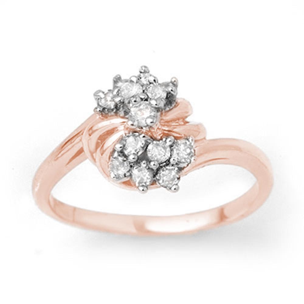 0.25 ctw VS/SI Diamond Ring 18K Rose Gold - REF-47W3H - SKU:13773