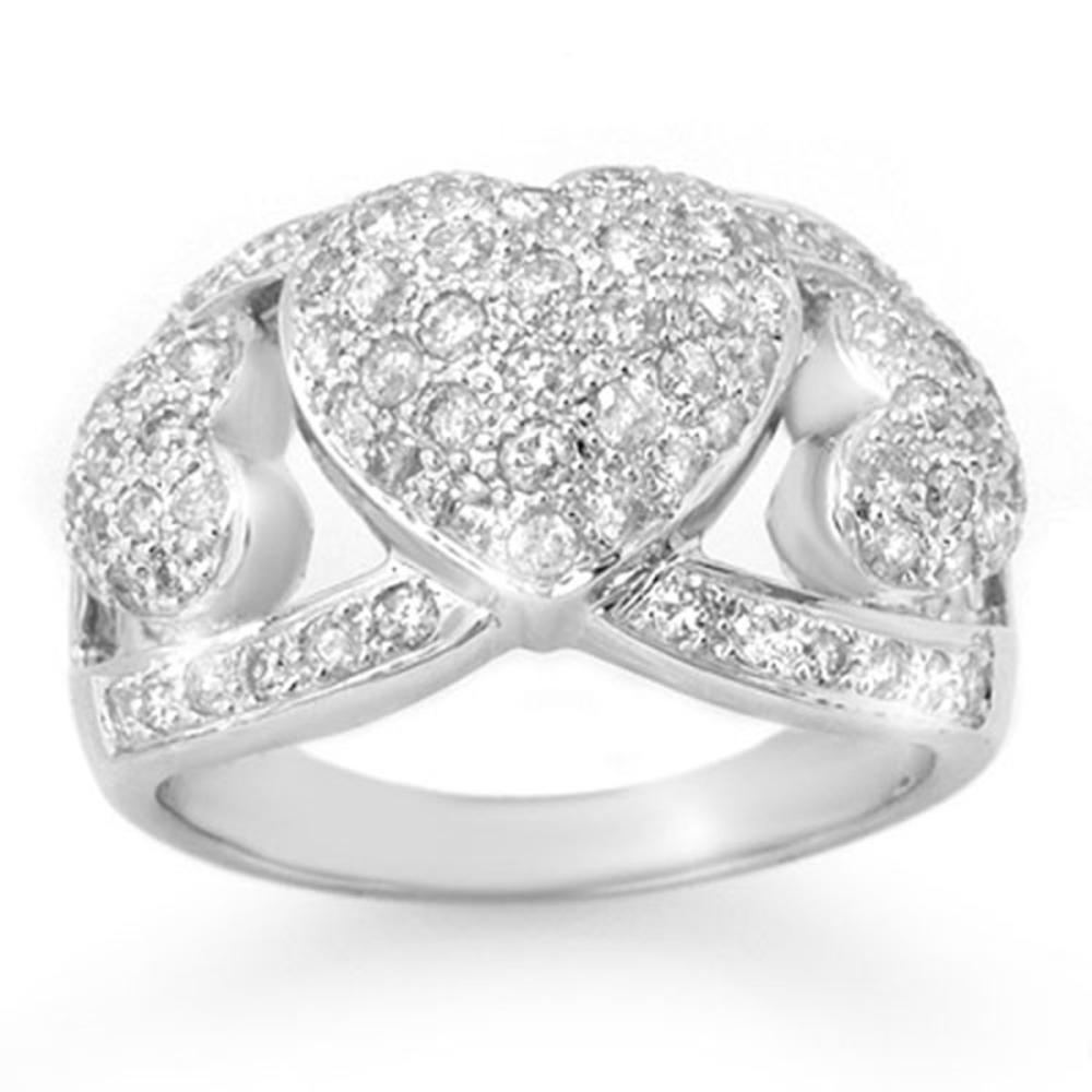 1.50 ctw VS/SI Diamond Ring 18K White Gold - REF-150K7W - SKU:14341