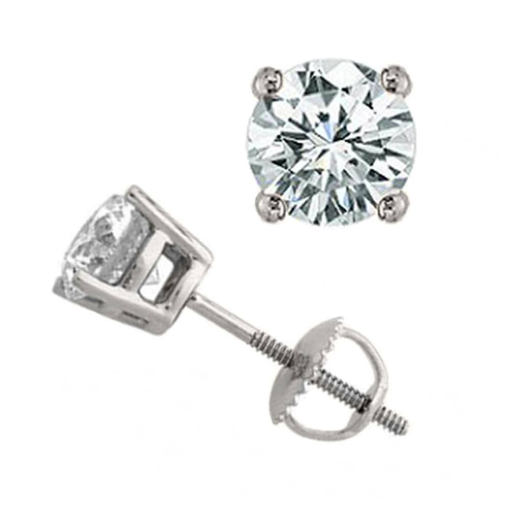 1.50 ctw VS/SI Diamond Stud Earrings 14K White Gold - REF-240H2M - SKU:13046