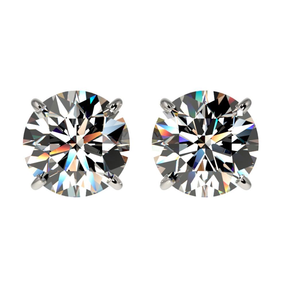 2.11 ctw H-SI/I Diamond Stud Earrings 10K White Gold - REF-367M5F - SKU:36643