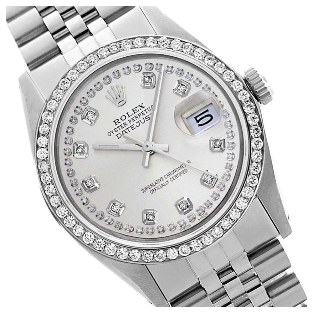 Rolex Ladies Stainless Steel, Diamond Dial & Diamond Bezel, Sapphire Crystal - REF-434A7N