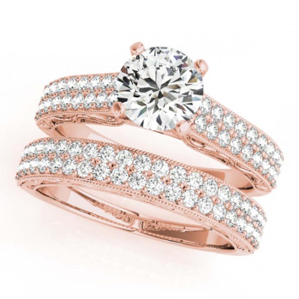 2.26 ctw VS/SI Diamond 2pc Set Wedding 14K Rose Gold - REF-405A2V - SKU:32139