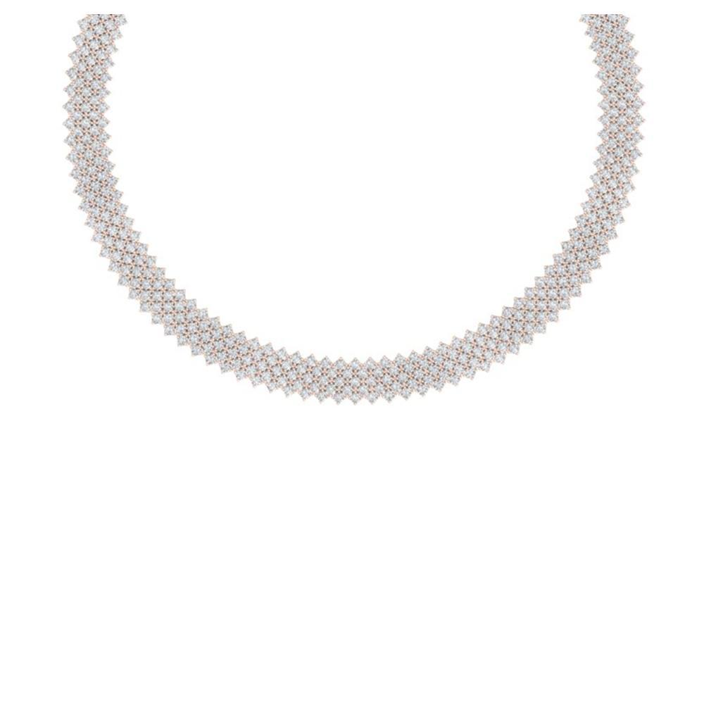 40 ctw VS/SI Diamond Necklace 18K Rose Gold - REF-2190H2M - SKU:40053