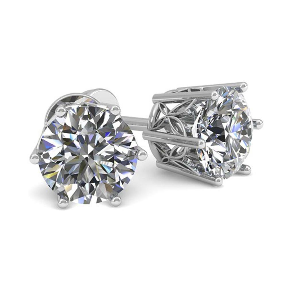 0.53 ctw VS/SI Diamond Stud Earrings 18K White Gold - REF-58W5H - SKU:35817